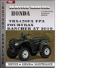 Honda TRX420FA FPA Fourtrax Rancher AT 2010 Service Repair Manual Download