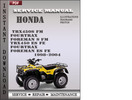 Thumbnail Honda TRX450S FM Fourtrax Foreman S FM TRX450 ES FE Fourtrax Foreman ES FE 1998-2004 Service Repair Manual Download