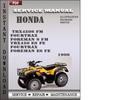 Thumbnail Honda TRX450S FM Fourtrax Foreman S FM TRX450 ES FE Fourtrax Foreman ES FE 1999 Service Repair Manual Download