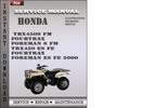 Thumbnail Honda TRX450S FM Fourtrax Foreman S FM TRX450 ES FE Fourtrax Foreman ES FE 2000 Service Repair Manual Download