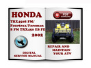 Thumbnail Honda TRX450S FM Fourtrax Foreman S FM TRX450 ES FE Fourtrax Foreman ES FE 2002 Service Repair Manual Download