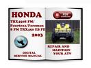 Thumbnail Honda TRX450S FM Fourtrax Foreman S FM TRX450 ES FE Fourtrax Foreman ES FE 2003 Service Repair Manual Download