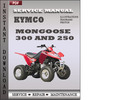 Thumbnail KYMCO Mongoose 300 and 250 Service Repair Manual Download