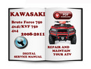 Thumbnail Kawasaki Brute Force 750 4x4i KVF 750 4x4 2008-2011 Service Repair Manual Download