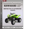 Thumbnail Kawasaki KFX700 V-Force 2003 Service Repair Manual Download