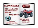 Thumbnail Kawasaki KLF 250 BAYOU 250 Workhorse 250 2003-2005 Service Repair Manual Download