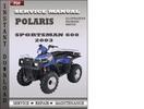 Thumbnail Polaris Sportsman 600 2003 Service Repair Manual Download