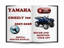 Thumbnail Yamaha Grizzly 700 2007-2008 Service Repair Manual Download