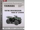Thumbnail Yamaha YFM Bigbear 400 F 2000 Service Repair Manual Download