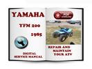 Thumbnail Yamaha YFM 200 1985 Service Repair Manual Download
