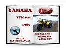 Thumbnail Yamaha YTM 200 1985 Service Repair Manual Download