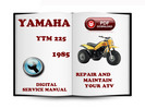 Thumbnail Yamaha YTM 225 1985 Service Repair Manual Download