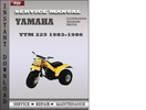 Thumbnail Yamaha YTM 225 1986 Service Repair Manual Download