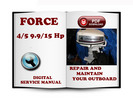 Thumbnail Force Outboard 4 & 5 Hp 9.9 & 15 Hp Service Repair Manual Download