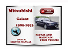 Thumbnail Mitsubishi Galant 1989-1993 Service Repair Manual