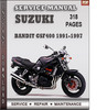 Thumbnail Suzuki Bandit GSF400 1991-1997 Factory Service Repair Manual Download