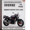 Thumbnail Suzuki Bandit GSF400 1991-1997 Factory Service Repair Manual Download
