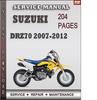 Thumbnail Suzuki DRZ70 2007-2012 Factory Service Repair Manual Download