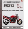 Thumbnail Suzuki Bandit GSF1200 1996-1999 Factory Service Repair Manual Download