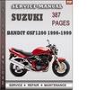 Thumbnail Suzuki Bandit GSF1200 1996-1999 Factory Service Repair Manual Download