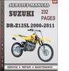 Thumbnail Suzuki DR-Z125L 2000-2011 Factory Service Repair Manual Download