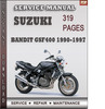 Thumbnail Suzuki Bandit GSF400 1990-1997 Factory Service Repair Manual Download