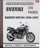 Thumbnail Suzuki Bandit GSF400 1990-1997 Factory Service Repair Manual Download