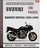Thumbnail Suzuki Bandit GSF600 1995-1999 Factory Service Repair Manual Download