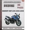 Thumbnail Suzuki Bandit GSF1200 2000-2009 Factory Service Repair Manual Download
