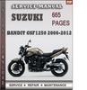 Thumbnail Suzuki Bandit GSF1250 2006-2012 Factory Service Repair Manual Download