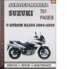 Thumbnail Suzuki V-Strom DL650 2004-2009 Factory Service Repair Manual Download