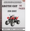 Thumbnail Arctic Cat 250 2007 Factory Service Repair Manual Download