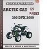 Thumbnail Arctic Cat 300 DVX 2009 Factory Service Repair Manual Download