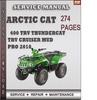 Thumbnail Arctic Cat 400 TRV Thundercat TRV Cruiser Mud Pro 2010 Factory Service Repair Manual Download