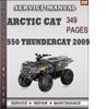 Thumbnail Arctic Cat 550 Thundercat 2009 Factory Service Repair Manual Download