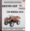 Thumbnail Arctic Cat 700 Diesel 2010 Factory Service Repair Manual Download
