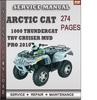 Thumbnail Arctic Cat 1000 Thundercat TRV Cruiser Mud Pro 2010 Factory Service Repair Manual Download