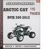 Thumbnail Arctic Cat DVX 300 2012 Factory Service Repair Manual Download