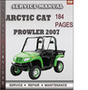 Thumbnail Arctic Cat Prowler 2007 Factory Service Repair Manual Download