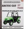 Thumbnail Arctic Cat Prowler XT XTX XTZ 2010 Factory Service Repair Manual Download