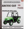 Thumbnail Arctic Cat Prowler XTZ 2009 Factory Service Repair Manual Download