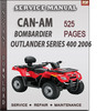 Thumbnail Can-Am  Bombardier Outlander Series 400 2006 Factory Service Repair Manual Download