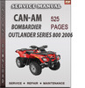 Thumbnail Can-Am  Bombardier Outlander Series 800 2006 Factory Service Repair Manual Download