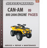 Thumbnail Can-Am 800 2006 Engine Factory Service Repair Manual Download
