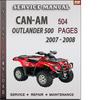 Thumbnail Can-Am Outlander 500 2007 - 2008 Factory Service Repair Manual Download