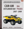 Thumbnail Can-Am Outlander 800 2007 - 2008 Factory Service Repair Manual Download