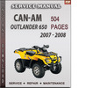 Thumbnail Can-Am Outlander 650 2007 - 2008 Factory Service Repair Manual Download