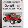 Thumbnail Can-Am Rally 200 2003 Factory Service Repair Manual Download