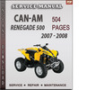 Thumbnail Can-Am Renegade 500 2007 - 2008 Factory Service Repair Manual Download