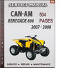 Thumbnail Can-Am Renegade 800 2007 - 2008 Factory Service Repair Manual Download